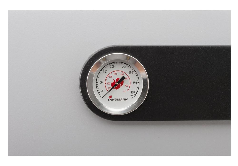 Temperaturanzeige im Deckel